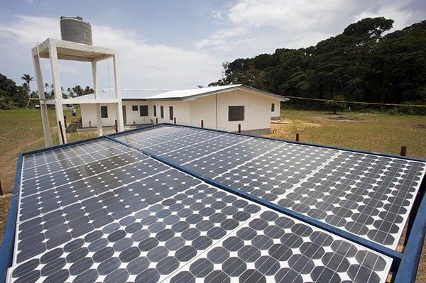 UNDP-Built Solar Power Panels Aid Liberian Communities