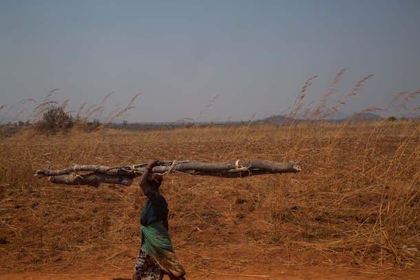 Girl Up - woman carrying wood Malawi
