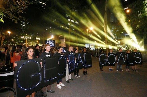 Global goals light the way