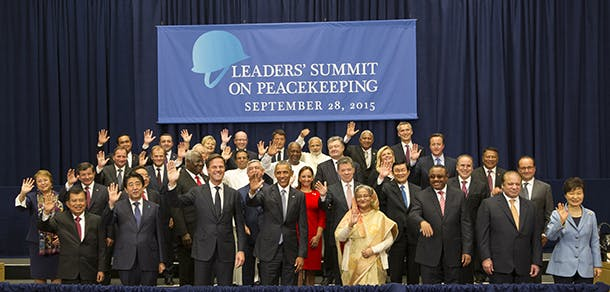 Family photo for peacekeeping no sg......