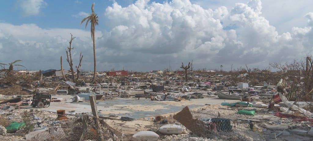 Hurricane Dorian destruction.