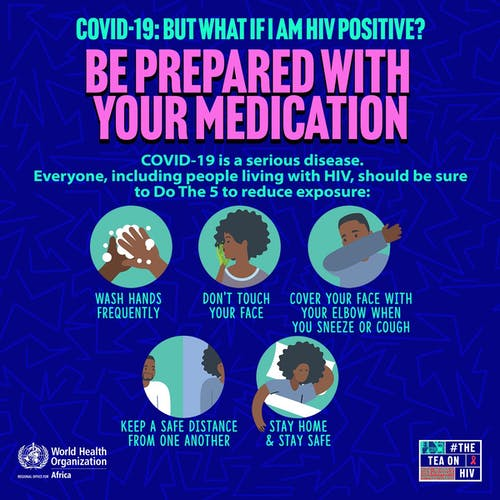 WHO Grpahic on HIV and COVID-19