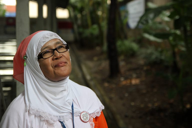 Portrait of a woman in Indonesia