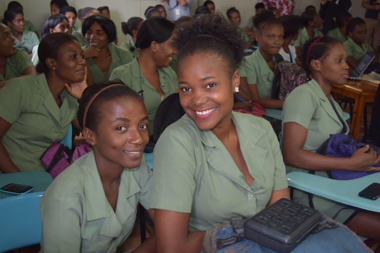 Photograph of schoolgirls